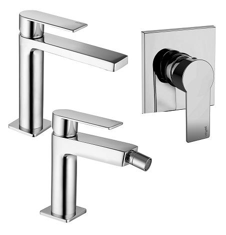 Miscelatore lavabo, bidet e doccia