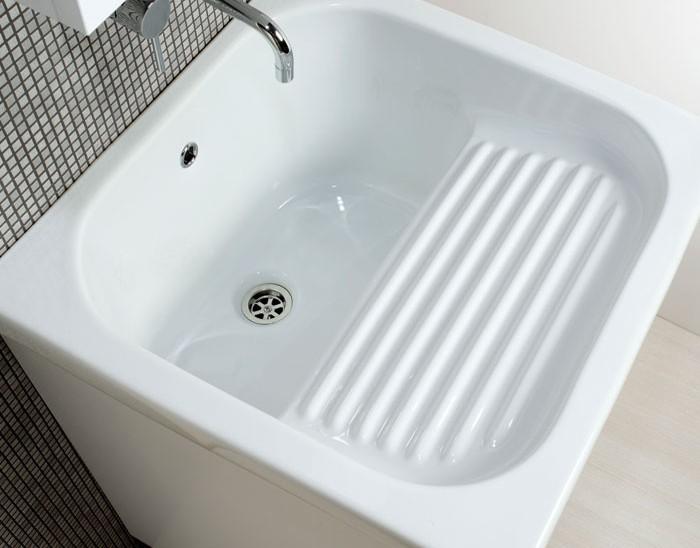 Lavatoio In Ceramica Prezzi.Ellemmeci Lavatoio In Ceramica Con Strofinatoio Incorporato Mobile Oceano 45x51