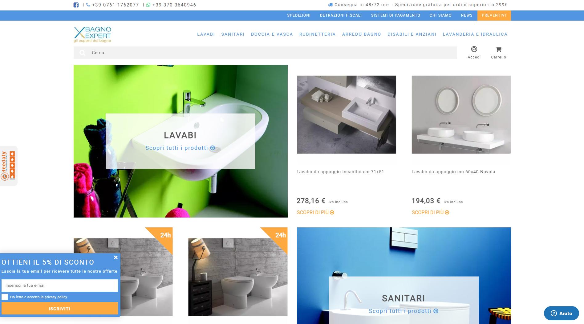 Bagno Expert tra i migliori e-commerce di arredobagno del 2020